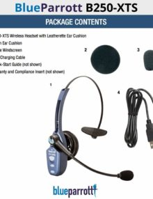 VXi BlueParrott B250-XTS Headset Accessories