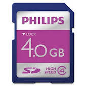 Philips LFH9004-00 4GB SD Memory Card