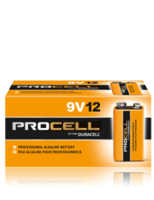DURACELL PROCELL 9V ALKALINE BATTERIES 12 PER BOX - Supon Voice
