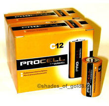 DURACELL PROCELL C ALKALINE BATTERIES 12 PER BOX  - Supon Voice