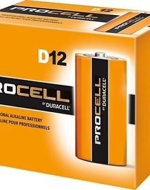 DURACELL PROCELL D ALKALINE BATTERIES 12 PER BOX - Supon Voice
