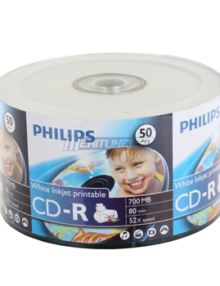 PHILIPS CD-R 80MIN:700MB 52X WHITE INKJET PRINTABLE SURFACE  - Supon Voice