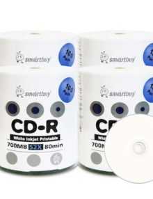 SMARTBUY CD-R WHITE INKJET PRINTABLE 50 PER SPINDLE  - Supon Voice