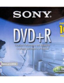 SONY DVD+R (10 PER PACK) REGULAR JEWEL CASE