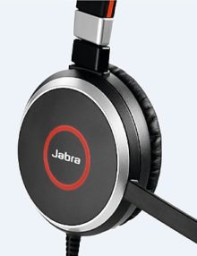 Jabra Evolve 40 MS Stereo Headset Ear Side